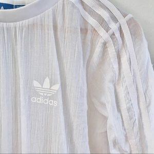 Adidas Lightweight Linen White Pullover Shirt